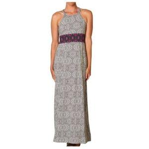 PRANA Womens Skye Gray Purple Halter Maxi Dress XL